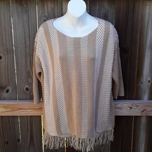 Chico's Fringe Sweater, small